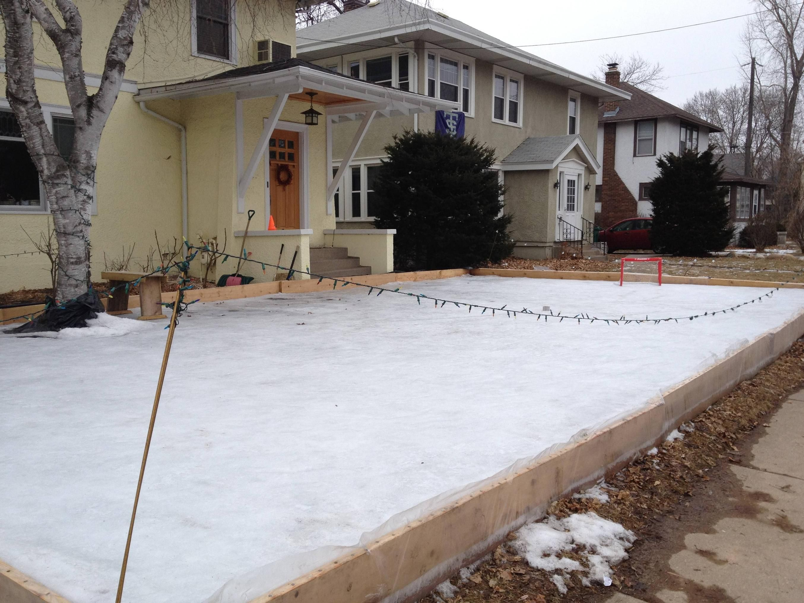 My neighbors built an ice rink in their front yard ...