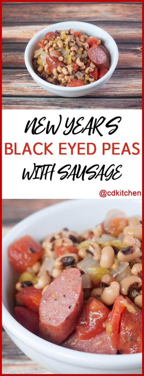 New Year's Black Eyed Peas with Sausage Recipe | CDKitchen.com
