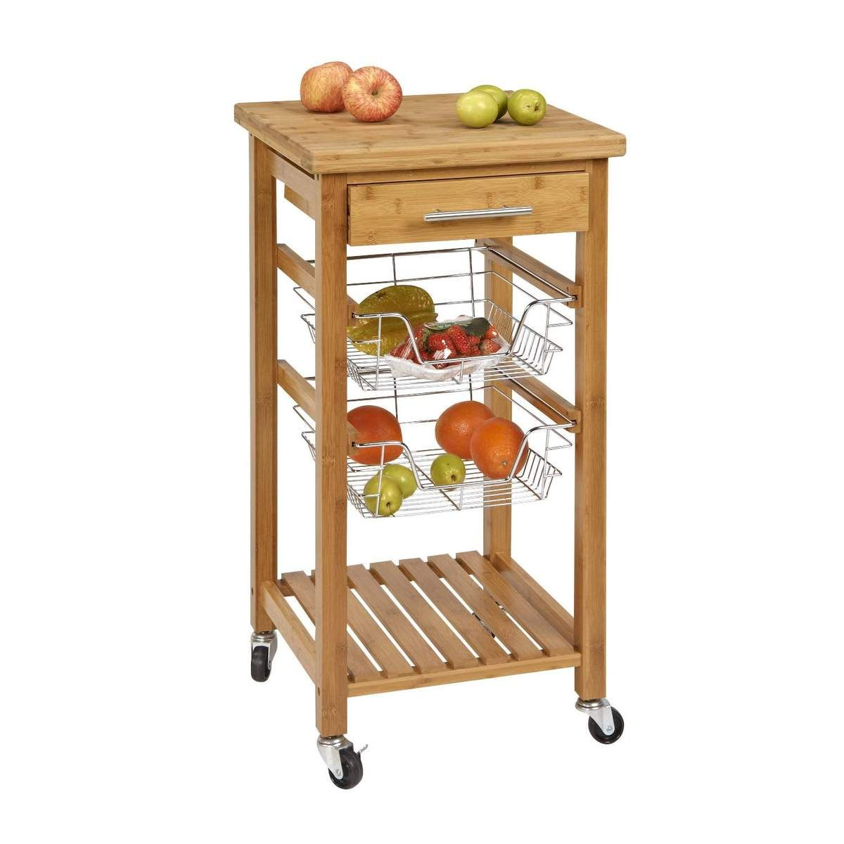 Rolling Kitchen Cart With Cutting Board