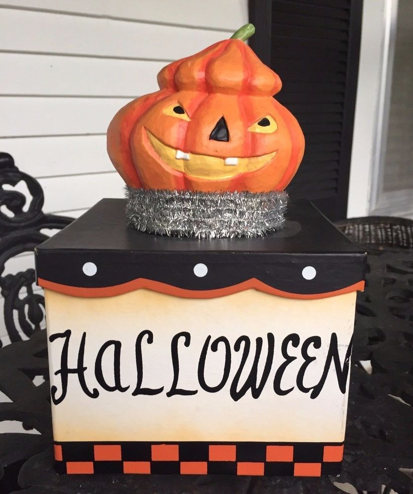 Cute Halloween Candy Container or Gift Box Halloween