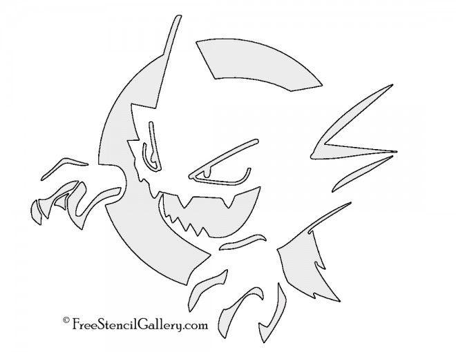 Pokemon - Haunter Stencil | Free Stencil Gallery | Color Pokemon ...