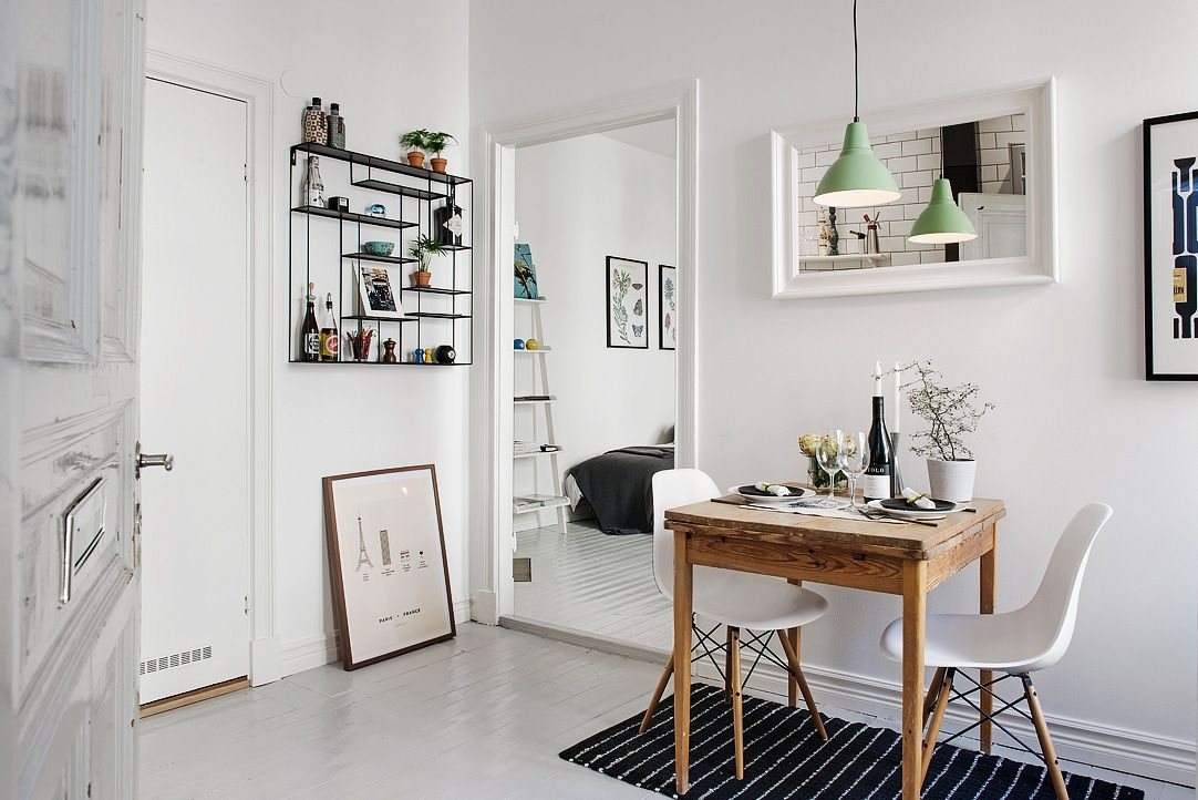Delightful One Room Studio Apartment In Gothenburg Inspiring Brightness And  Space   Http:/ · Flat IdeasSmall Dining Table ...