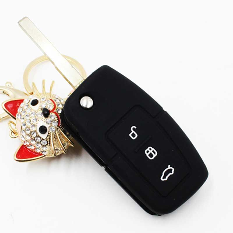 Silicone Car Key Cover Remote Cover For Ford Fiesta Focus 2