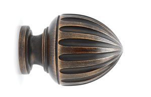 Acorn Finial For Use With 1 3 8 Wooden Curtain Rods Wood