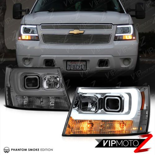 2007 2014 Chevy Suburban Tahoe Avalanche Tron Style Led Neon Tube Headlights Chevy Avalanche Chevy Suburban 2007 Chevy Avalanche