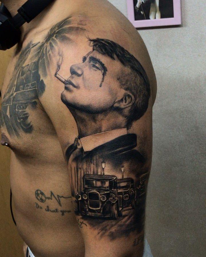 """Tattoo artist 🌿 Printmaker on Instagram: """"#tattoo #tattoos #realismtattoo #peakyblinders #israeltattoo #ink #inked #inktattoo #portrait #portraittattoo"""""""