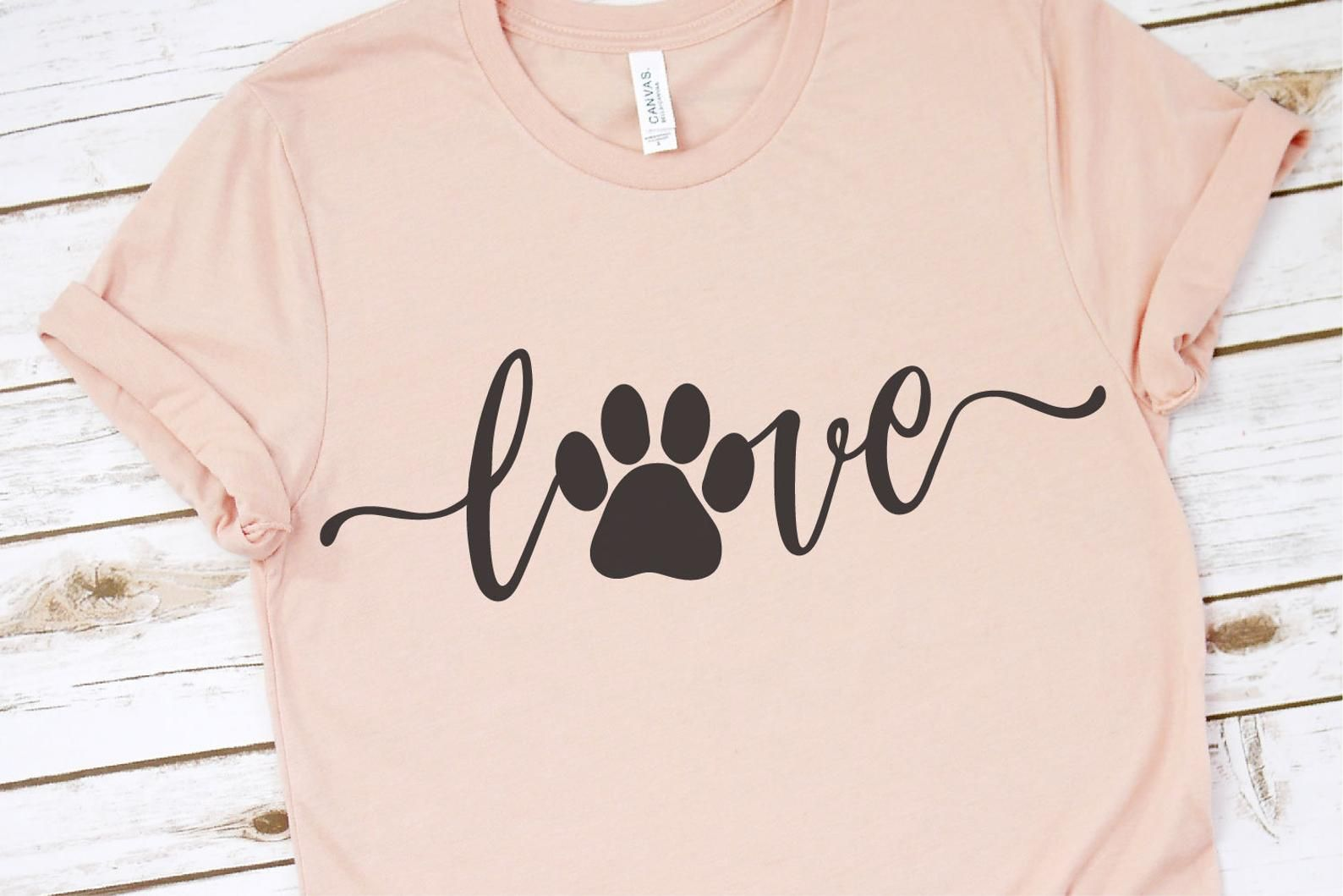 Download Love with Pawprint svg, Love with a Paw Print svg, Dog Mom ...