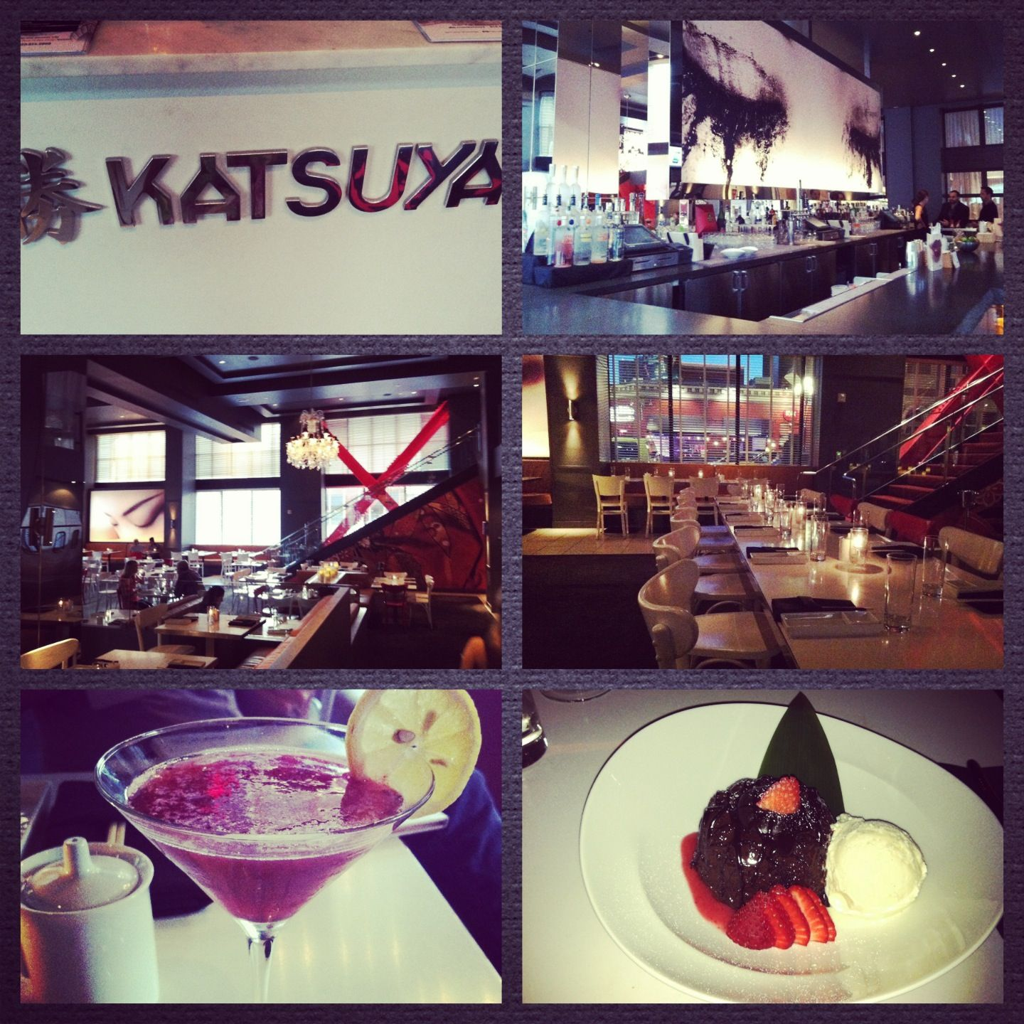 Katsuya SD! Love this place! Amazing sushi love the yellowtail sashimi with jalapeño and the salmon with caviar!! Muddled blackberry cocktail with lavender syrup is phenomenal! Great ambiance!
