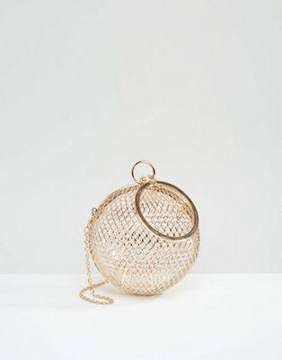 DESIGN cage sphere clutch bag  44799ce23e3a0