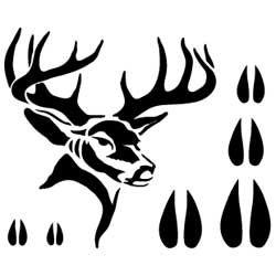 picture relating to Deer Head Silhouette Printable identify Deer Stencil Cricut ideas Deer stencil, Deer thoughts