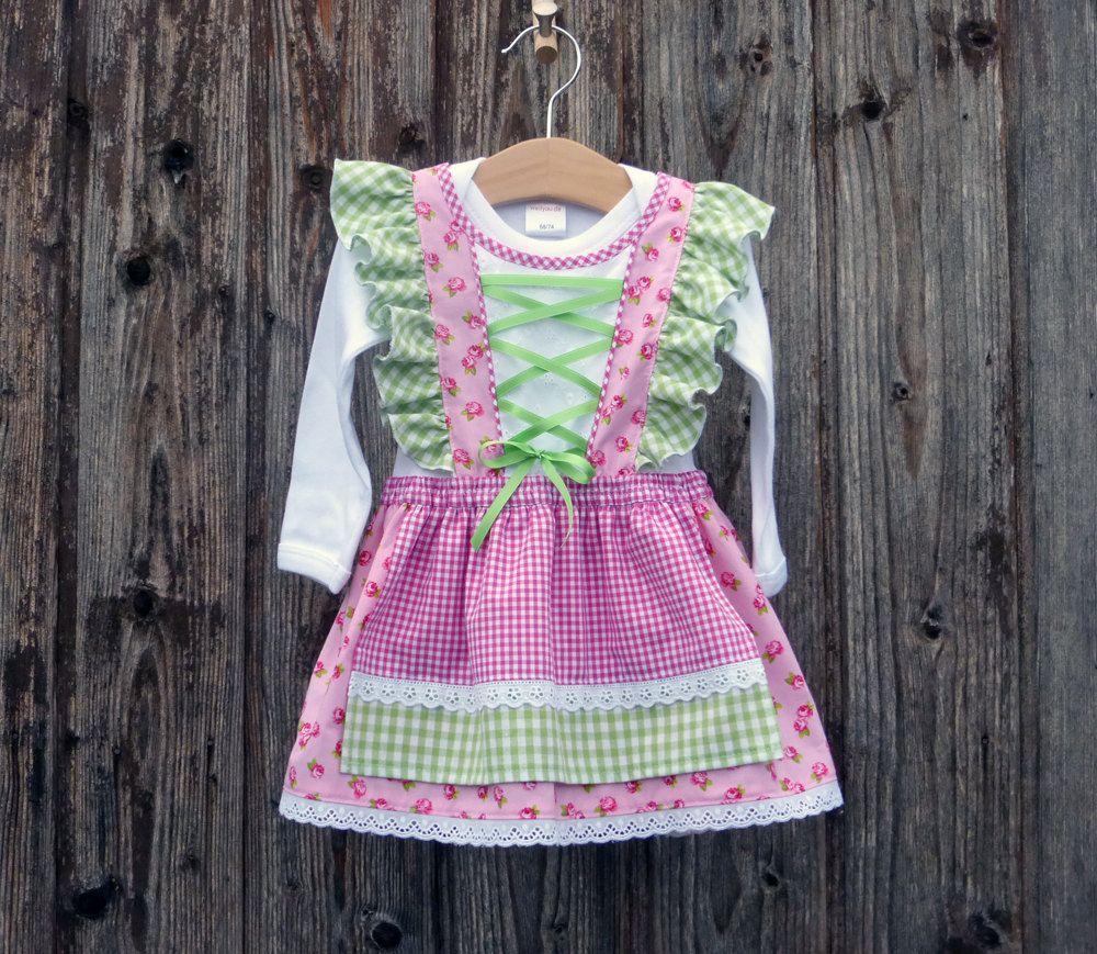 Dirndl fürs Kind, Kleid fürs Oktoberfest, bayerisches Kleid ...