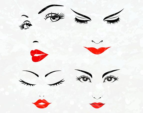 women face clipart svg eyes cricut eyelashes silhouette rh pinterest com Cartoon Winking Eye Animated Winking Eyes Clip Art