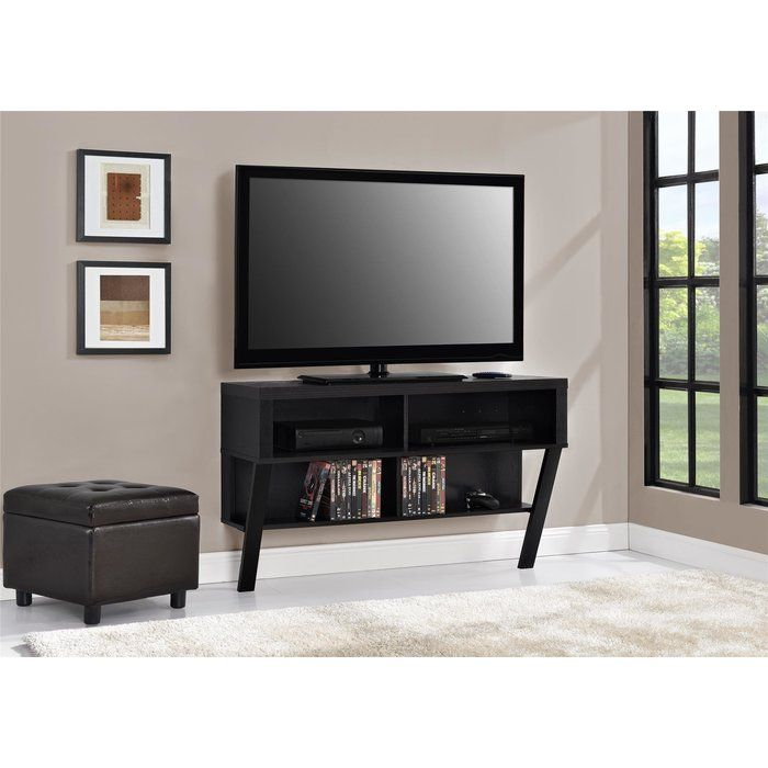 With Four Open Shelves And A Space Saving Design This Wall Mounted Abram 42 Tv Stand Is A Practical Addition To Yo Wall Mount Tv Stand Wall Tv Stand Tv Stand