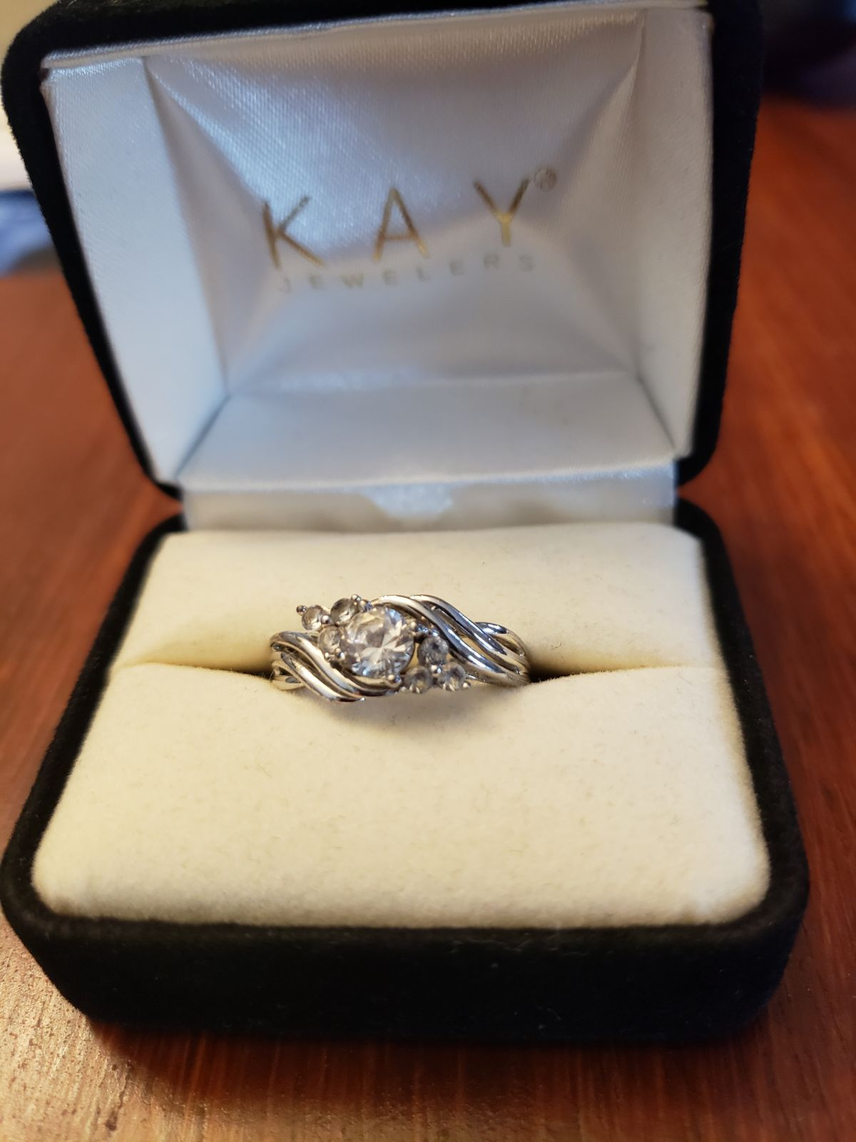 Kay Jewelers Sterling Silver Cubic Zirconia Ring Size 6 In Great Condition I Would Classify It A Kay Jewelers Rings Sterling Silver Cz Rings Kay Jewelers