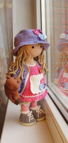 Amigurumi Doll Free Pattern #crochetdolls