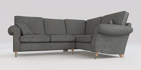 buy ashford corner sofa right hand 4 seats soft marl mid french grey castor light from the. Black Bedroom Furniture Sets. Home Design Ideas