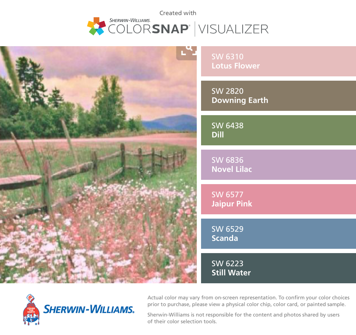 I found these colors with colorsnap visualizer for iphone by i found these colors with colorsnap visualizer for iphone by sherwin williams lotus flower sw 6310 downing earth sw 2820 dill sw 6438 izmirmasajfo