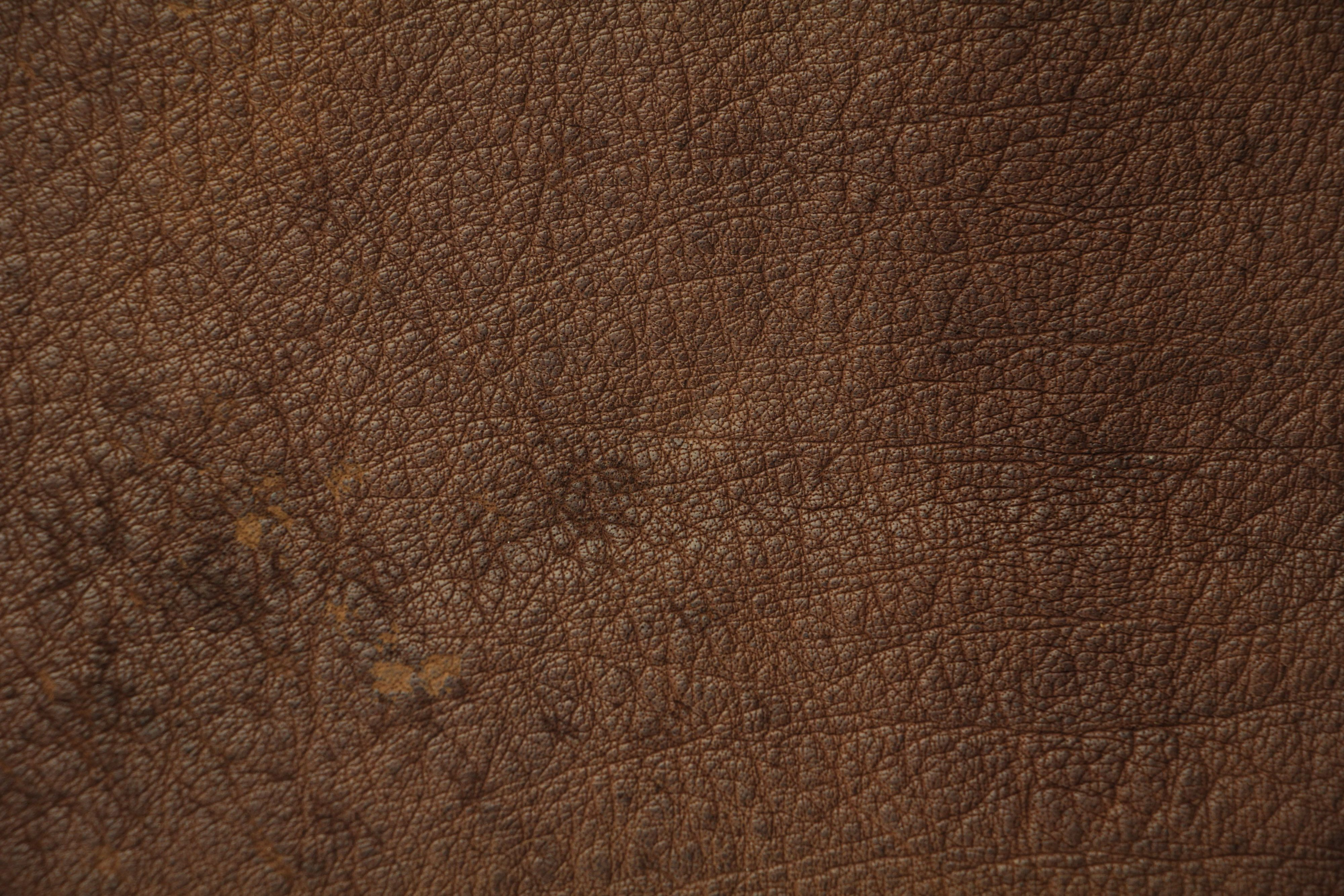 Brown Leather Texture Spotted High Resolution Stock Photo