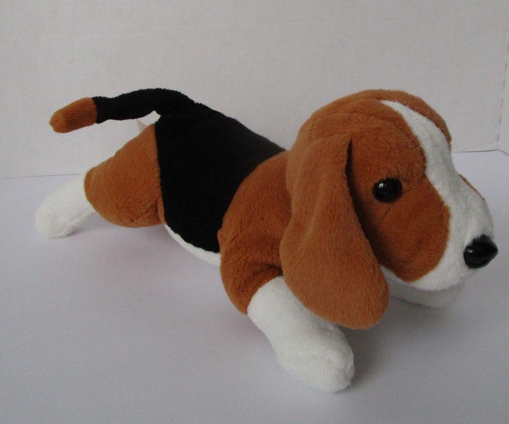 Dan Dee Beagle Puppy Dog Plush Brown Black White Stuffed Animal