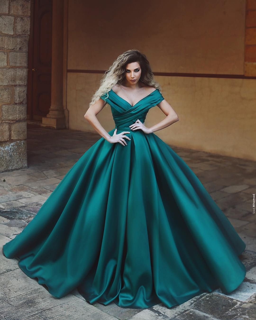 gorgeous v-neck prom dresses,off the shoulder long evening