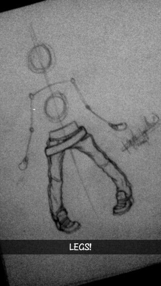 i loce drawing legs!! by @katatosio