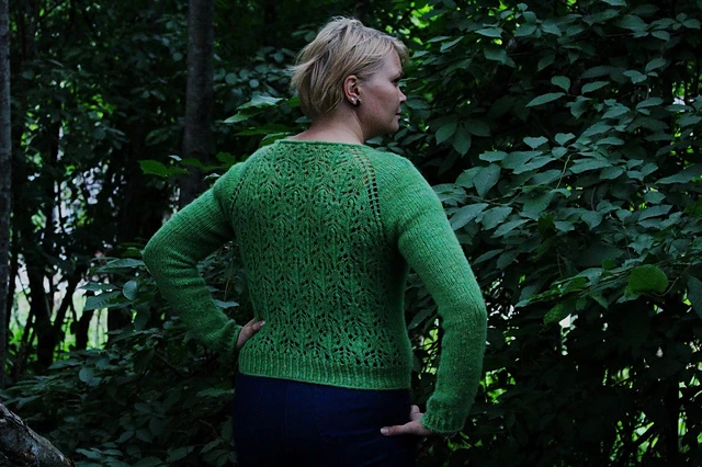 Photo of Bjørkjakke pattern by Strikkstiina