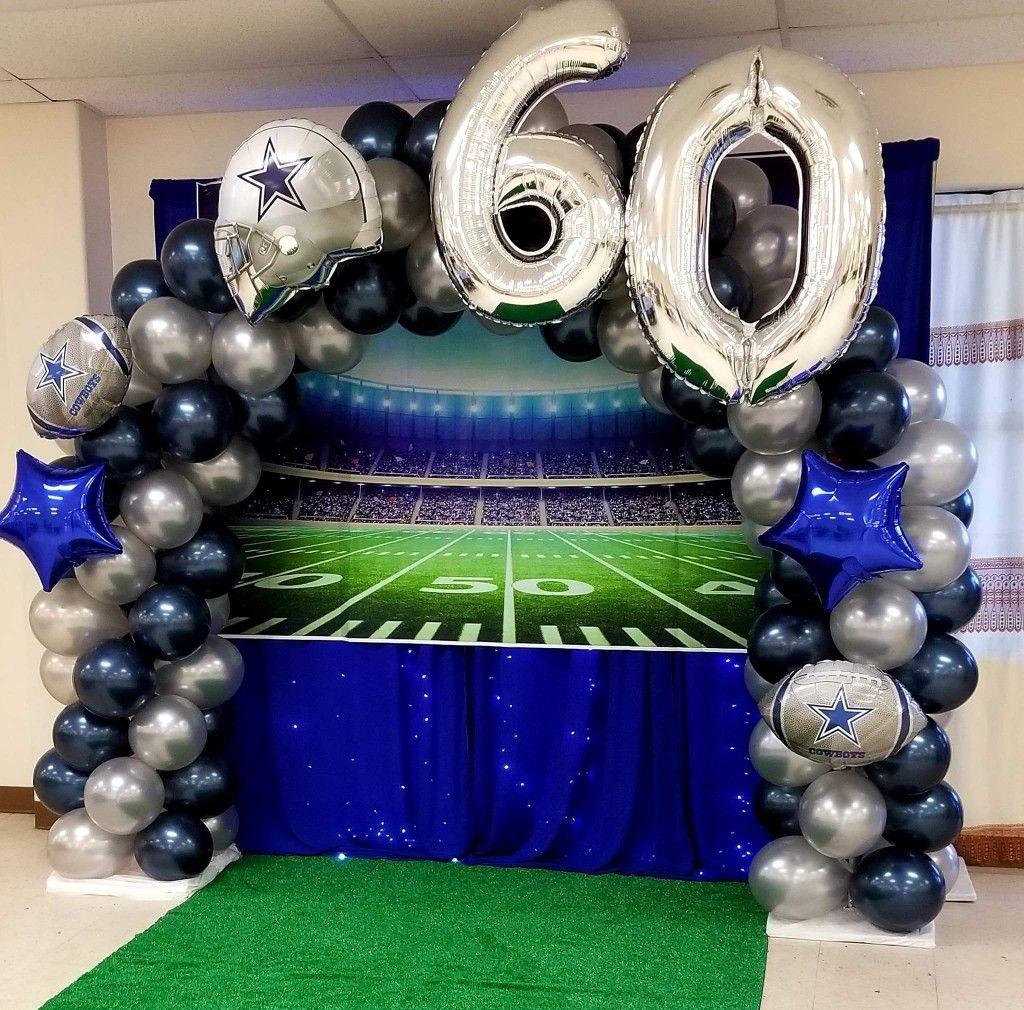 Dallas Cowboys Balloon Arch Dallas Cowboys Party Dallas Cowboys Birthday Party Dallas Cowboys Birthday