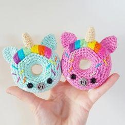 Unicorn Donuts Crochet Toys Pinterest Gesund Isst Gesund Und