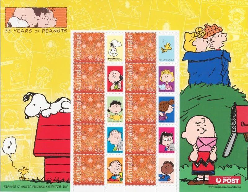 Australia Snoopy Postage Stamps