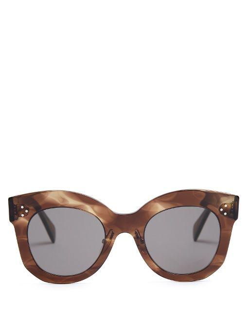 bdc2c1572b4 Céline Eyewear Chris cat-eye acetate sunglasses