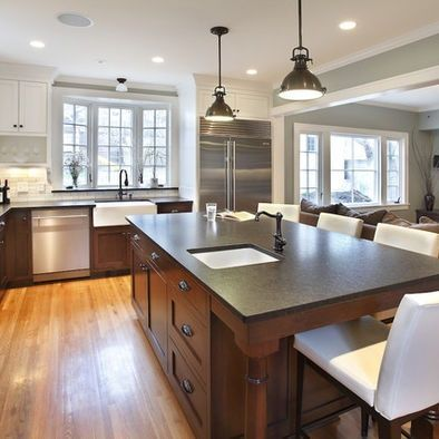 Cool Benjamin Moore Quiet Moments Method Minneapolis Contemporary Kitchen  Inspiration With Dark Stained Wood Frame And Panel Cabinets Gray Kitchen  Island ...