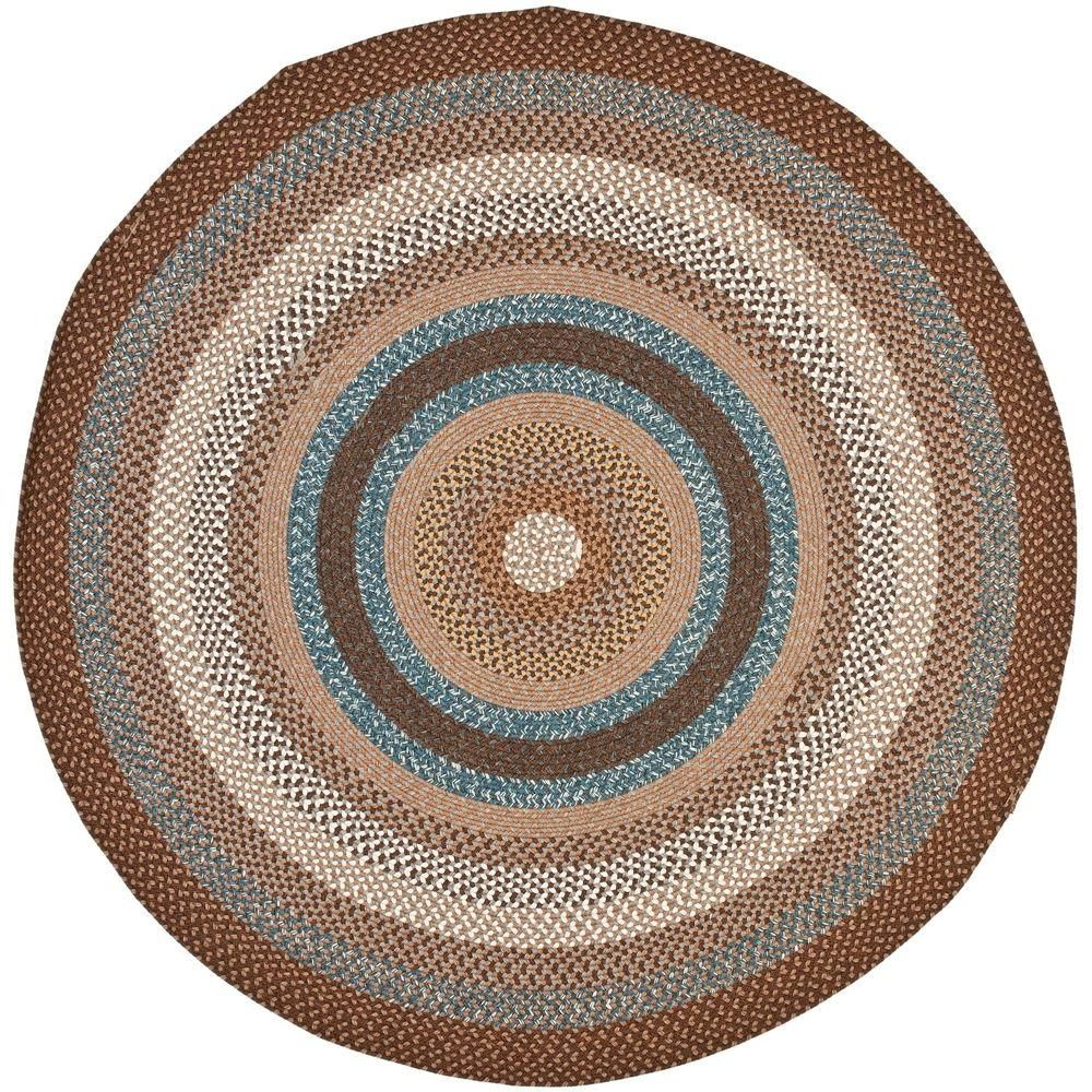 Safavieh Braided Brown Multi 6 Ft X 6 Ft Round Area Rug Products