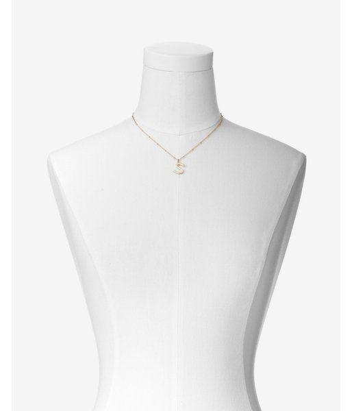 Sideways S Initial Pendant Necklace Women's Gold