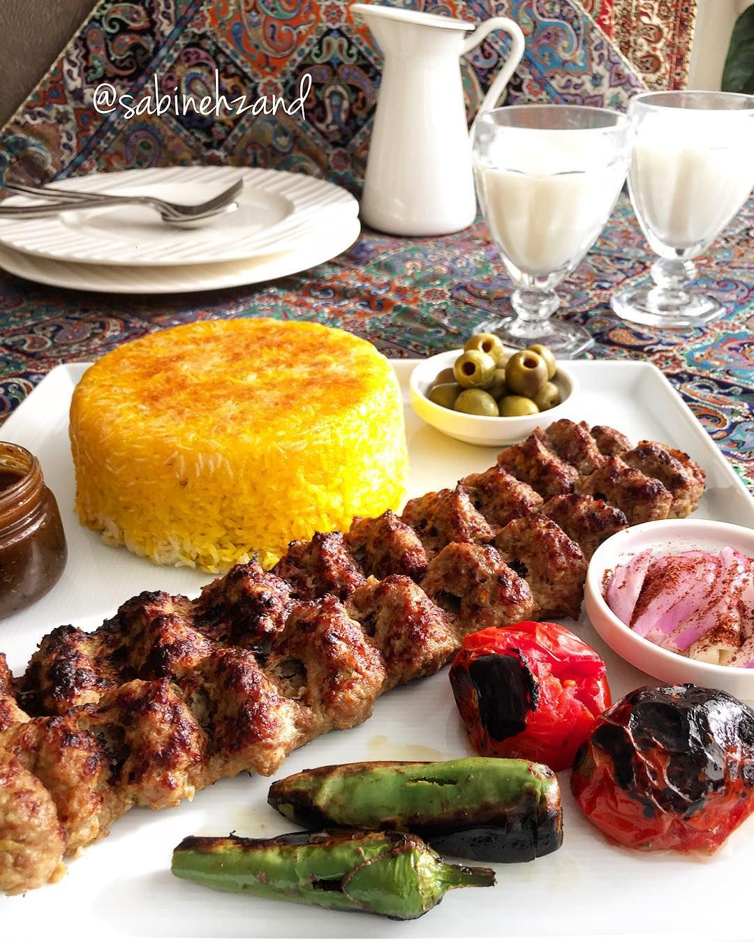 Chelo Kabab Koobideh Persian Iranska Zywnosc Iran Food
