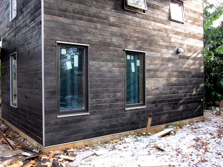 Portland Small Family House Shou Sugi Ban Wood Siding House