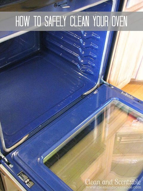 how to safely clean an oven, appliances, cleaning tips, And then you have a nice clean oven