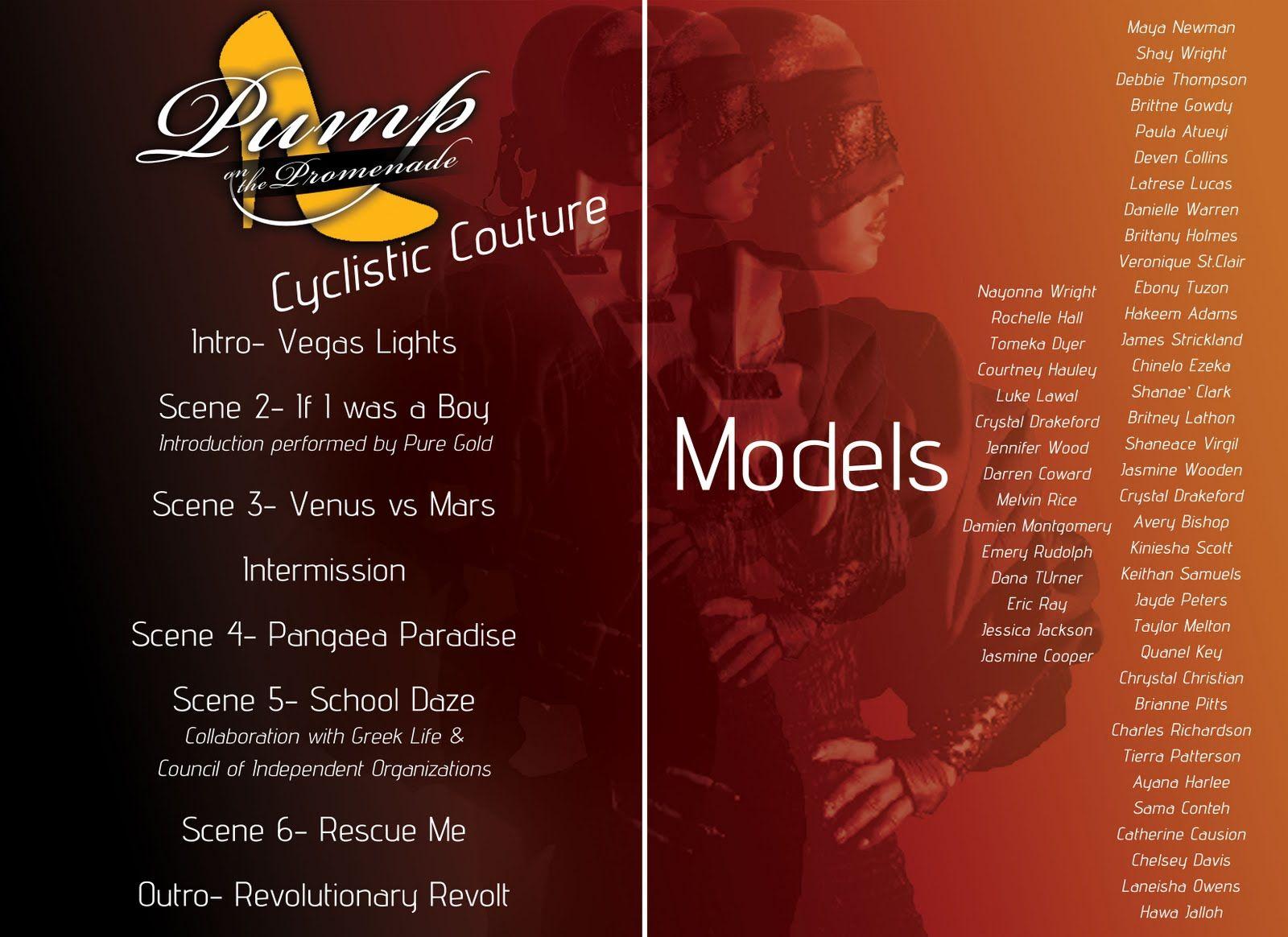Order of program for church fashion show - Create Graphic Design Work Pump On The Promenade Fashion Show Program