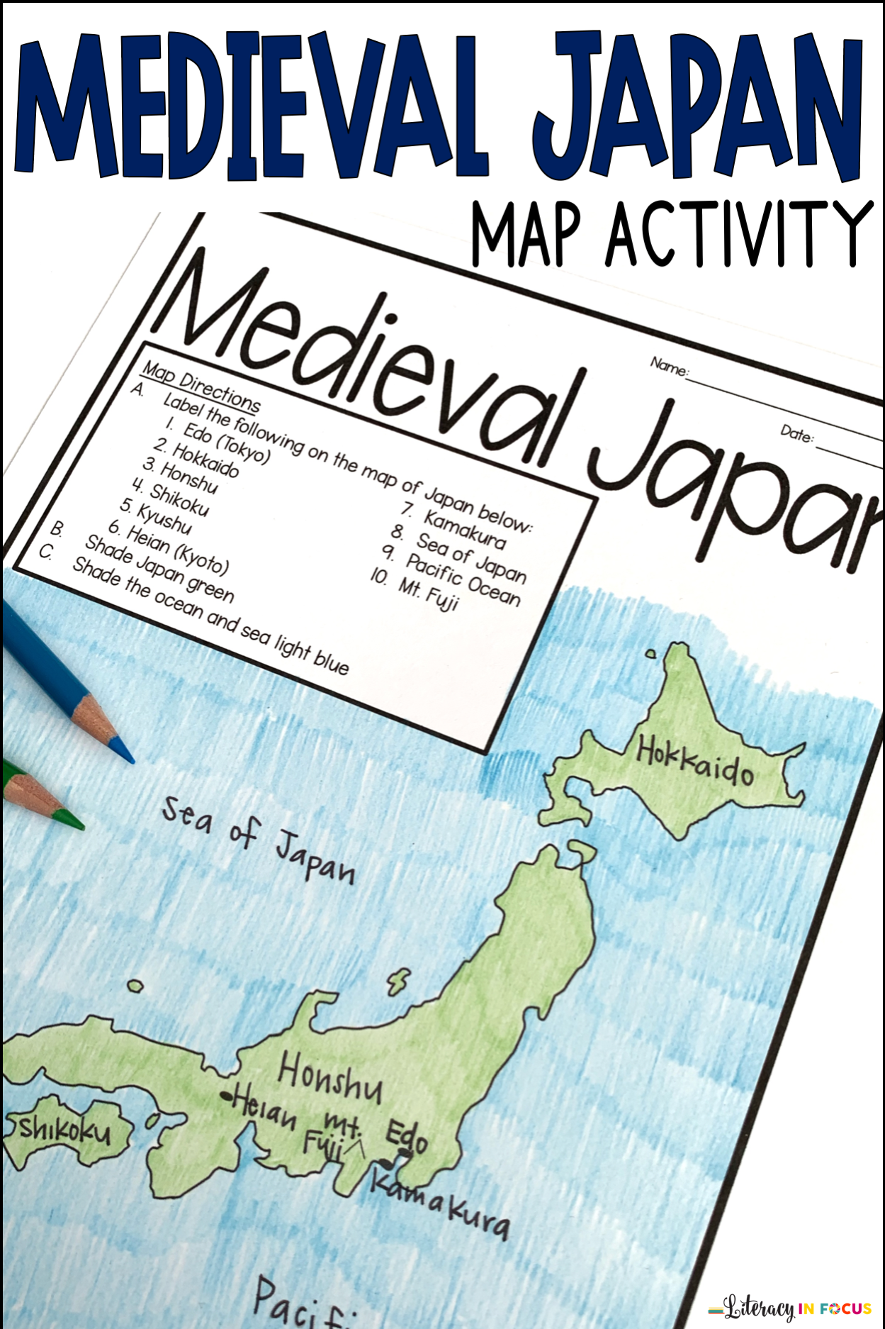 Me Val Japan Map Activity