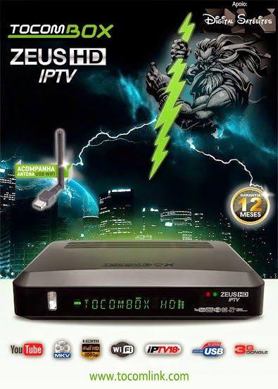Tocombox Zeus HD IPTV 3G Via Dongle Full HD IKS - SKS HDMI USB + Wi-Fi de Brinde