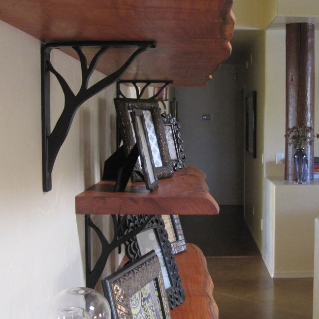Kitchen Shelf Brackets: Tree Branch Shelf Brackets (saw These On Kitchen Crashers