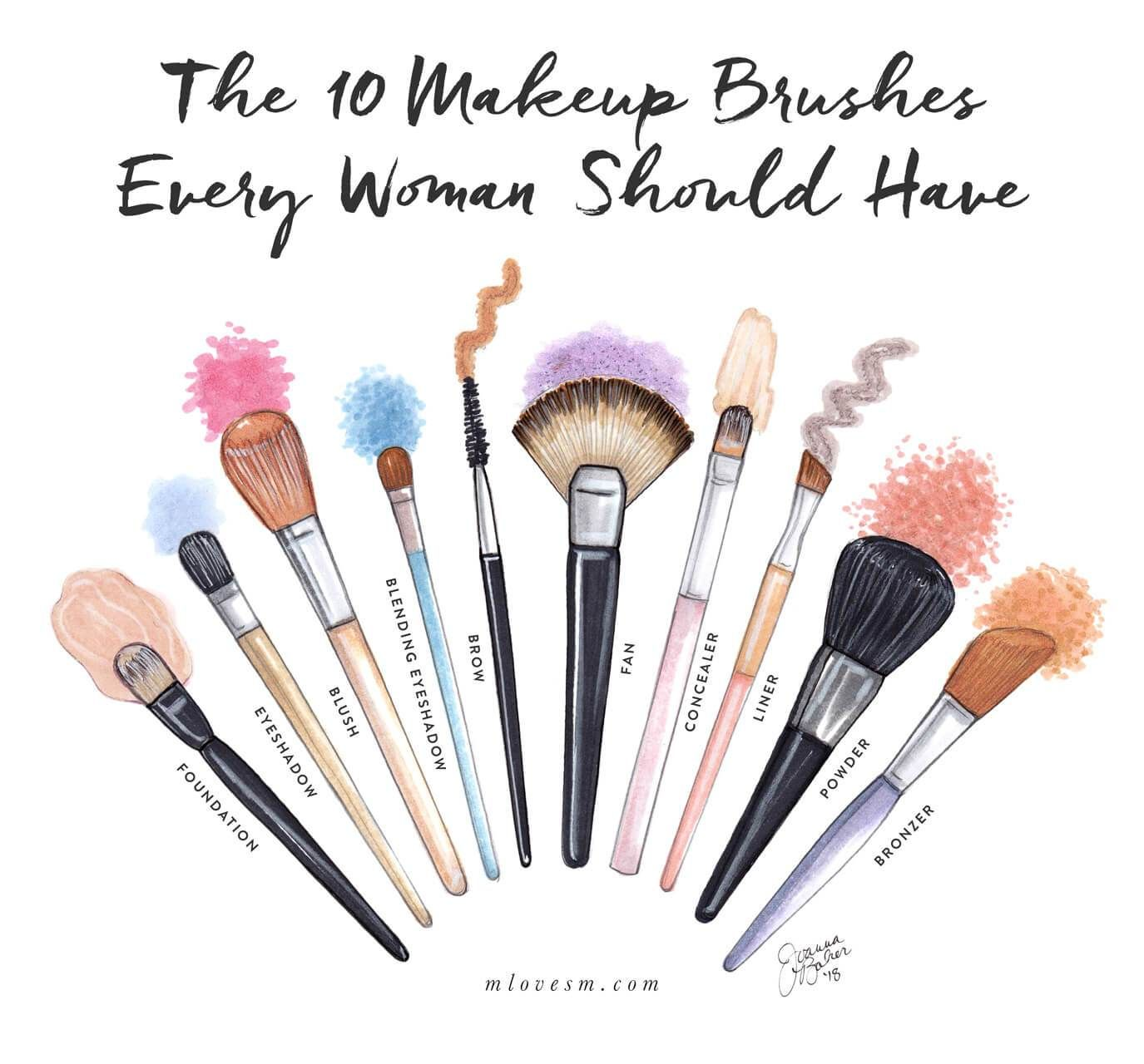 The 10 Makeup Brushes Every Woman Should Have M Loves M