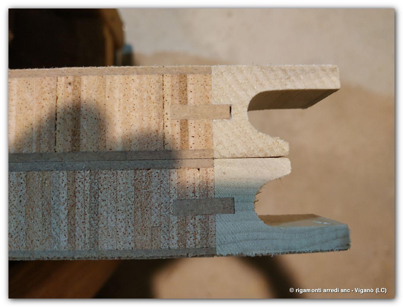 section detail - armadio ad ante battenti con dettaglio ...