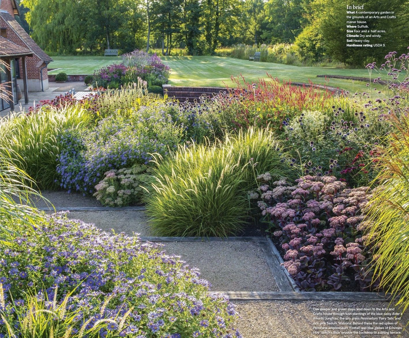 Sue townsend arts and craft gardens lillustrated gardens for Prairie style garden design