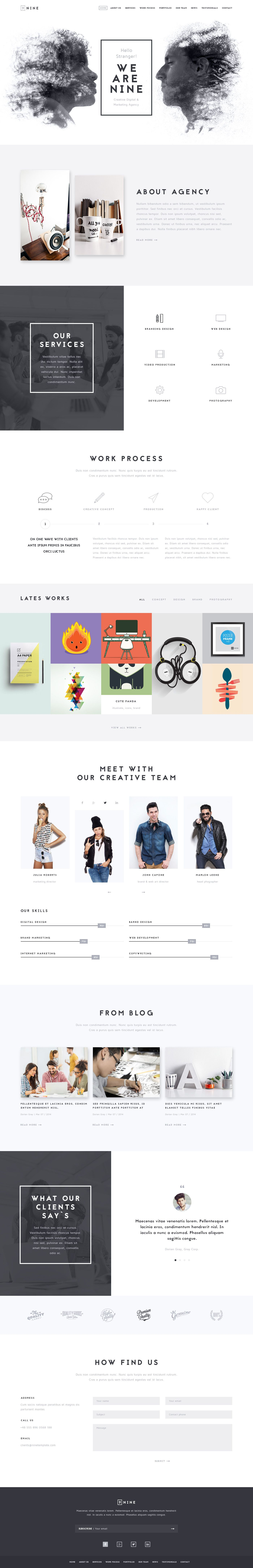 Modelo de web web design pinterest simple wordpress themes