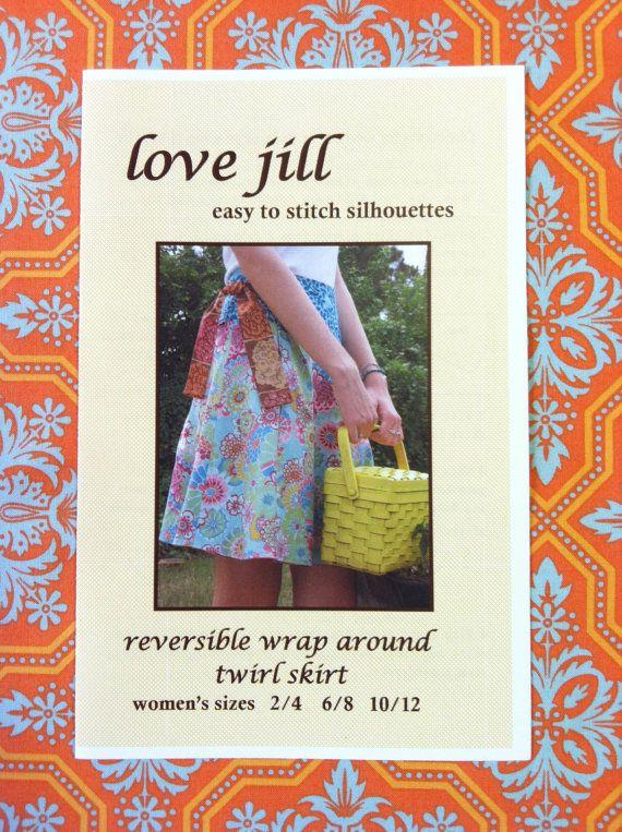 Lovejill reversible wrap skirt sewing pattern for women   Pinterest ...
