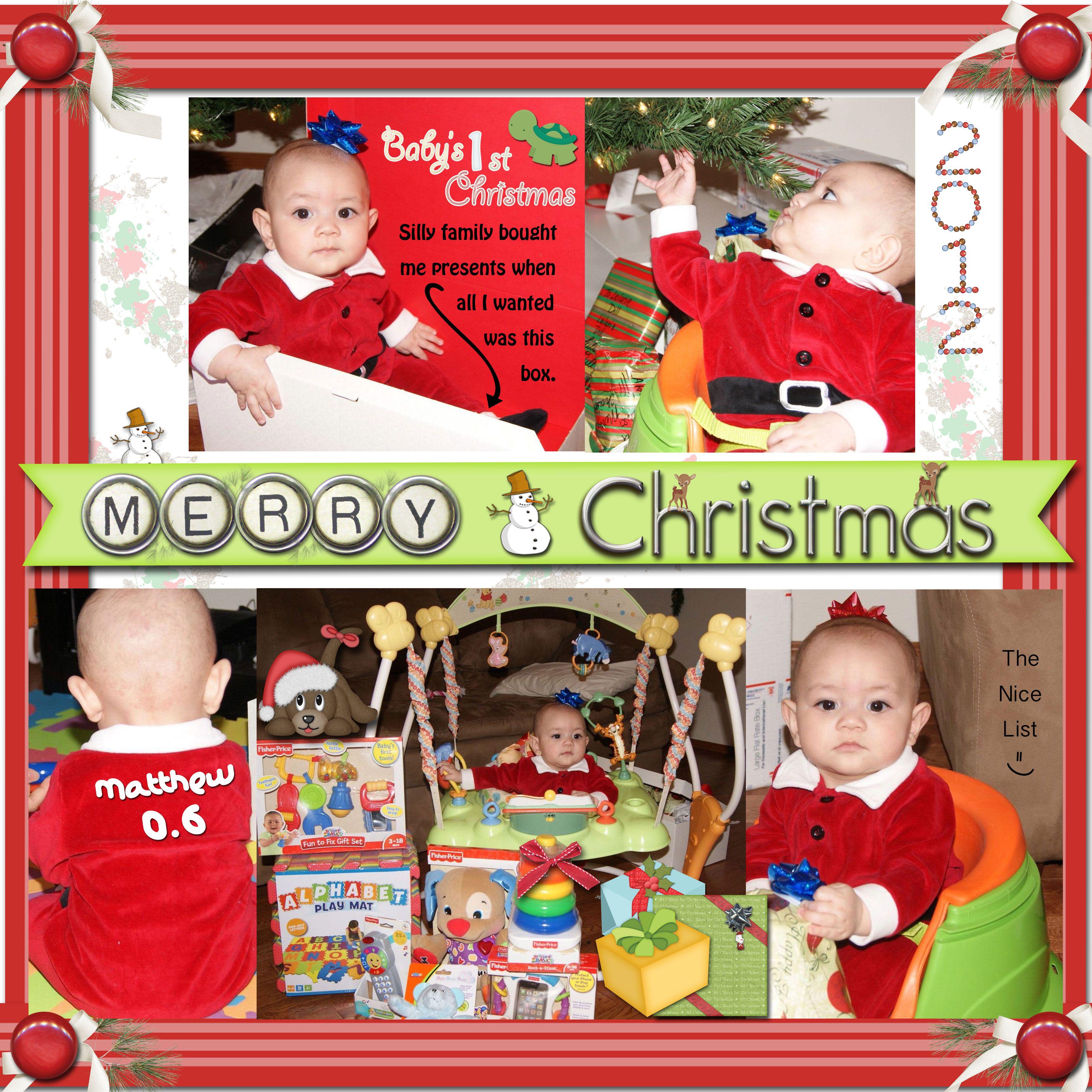 Bildergebnis für scrapbooking first christmas | Scrapbooking | Pinterest