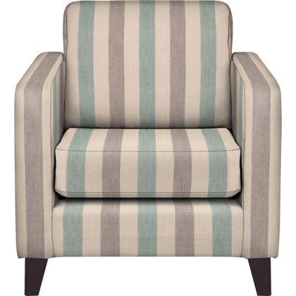 Schreiber Lynford Chair Duck Egg Wide Stripe - Dark Feet ...