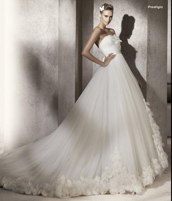 todo sobre bodas: vestido de novia prestigio pronovias 2012 manuel