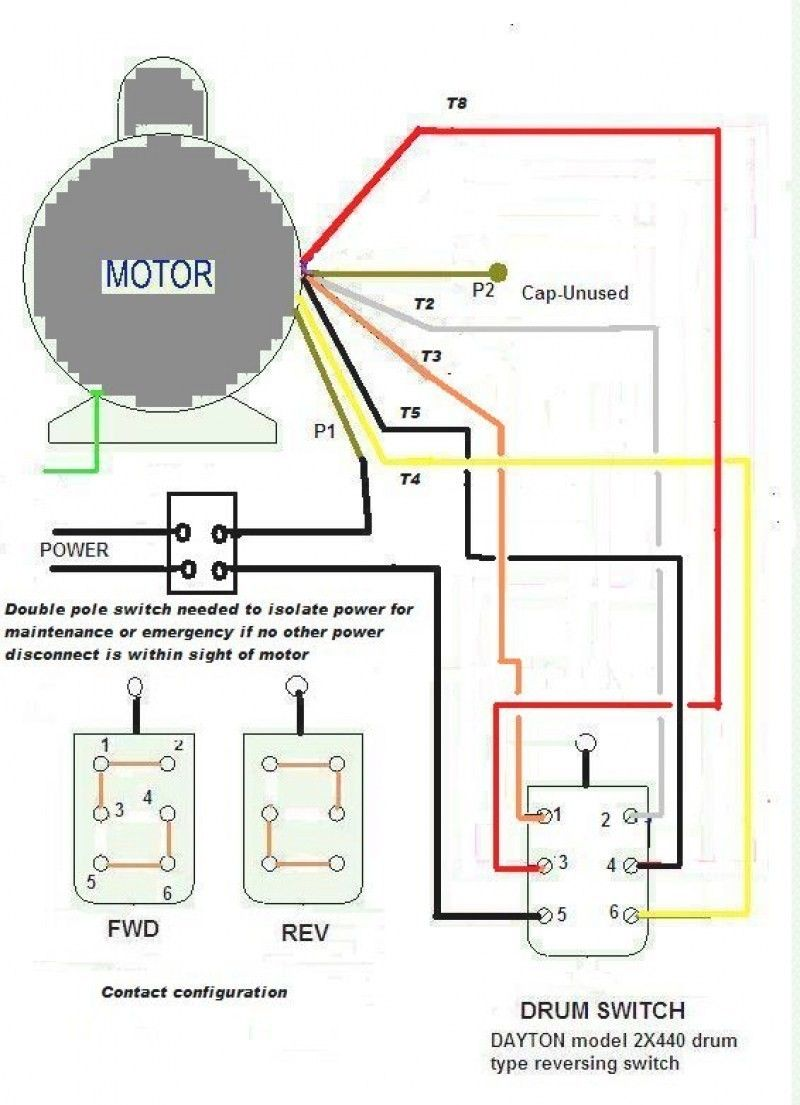 wiring diagram for 220 volt single phase motor ...  pinterest