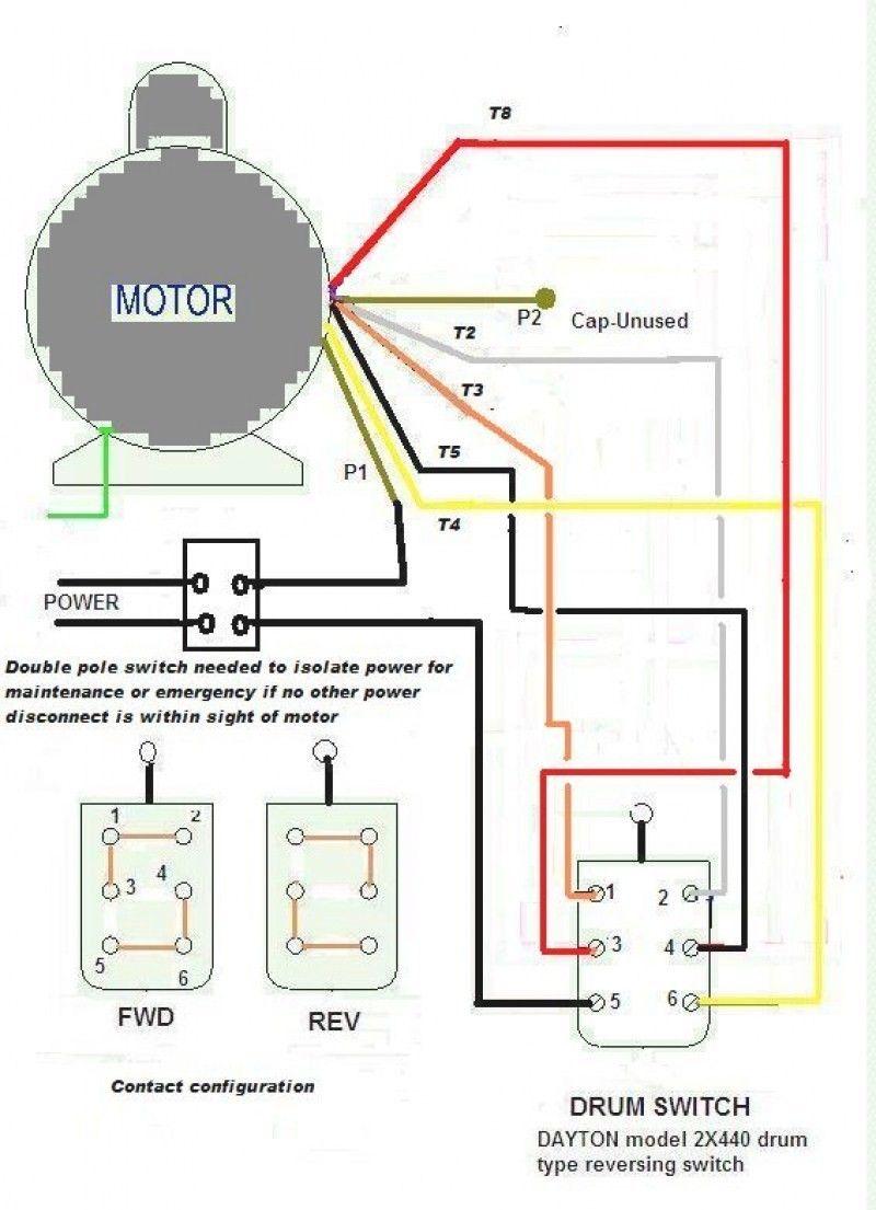 Single Phase Motor Wiring Diagram Forward Reverse : single, phase, motor, wiring, diagram, forward, reverse, Motor, Reversing, Switch, Wiring, Diagram